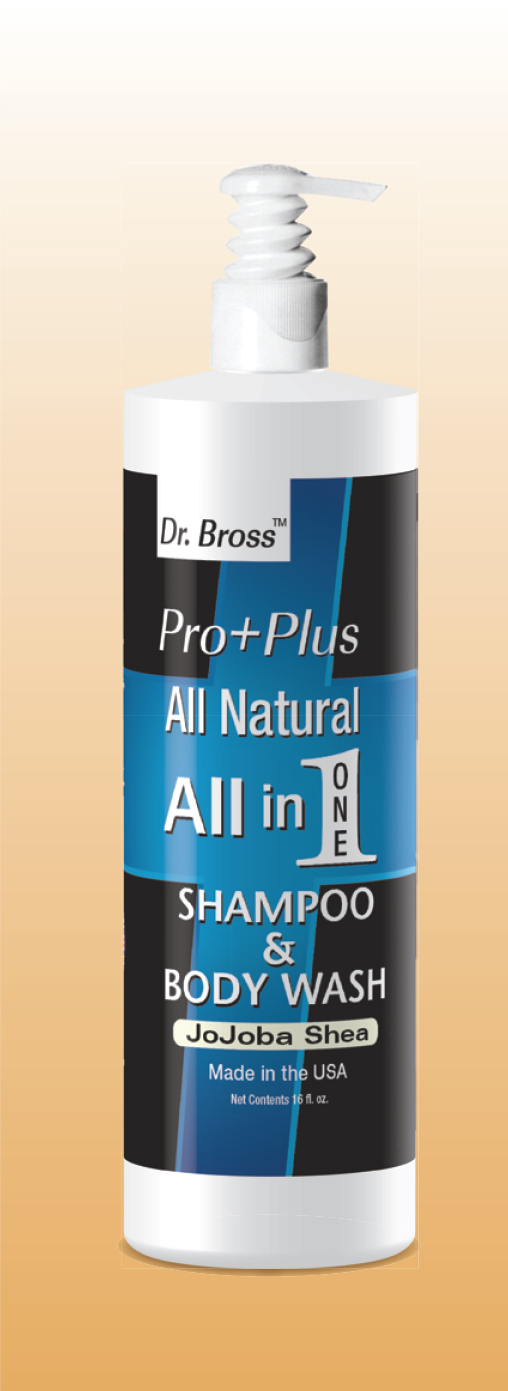 PRO+PLUS MEN'S ALL NATURAL ALL IN ONE SHAMPOO & BODY WASH